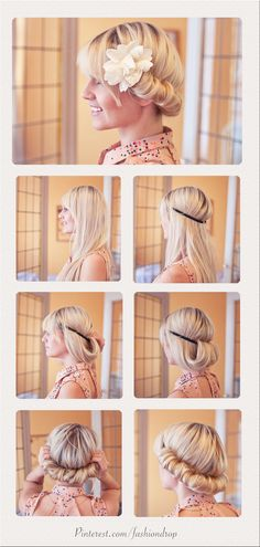 Tuto Coiffure : Vintage hair style in one minute.   For more fashion tips and inspiration look @fashion-drop