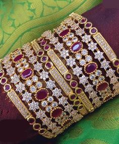 Aashkaanya is an Online Traditional Indian Imitation Jewelry Boutique. The new destination for your shopping hub. Explore all collection for new designs and more colors. Let's Show The World You Shine. Bridal Bangles, Bridal Jewelry, Gold Jewelry, Jewelry Necklaces, Gold Necklace, Beaded Bracelets, Solid Gold Bangle, Diamond Bangle, Fancy Jewellery