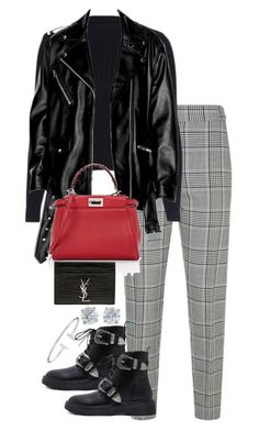 """Untitled #4772"" by theeuropeancloset on Polyvore featuring Alexander Wang, Fendi, Tiffany & Co. and Yves Saint Laurent"