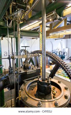 Display Of Old Beam Engine At De Cruquius Steam Powered Water Pumping Stock Photo, Picture And Royalty Free Image. Pic. 37483506