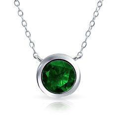 Bling Jewelry Sleek Solitare Chain ($18) ❤ liked on Polyvore featuring jewelry, necklaces, green, necklaces pendants, pendant-necklaces, green pendant, green necklace, christmas necklace, green pendant necklace and christmas jewelry