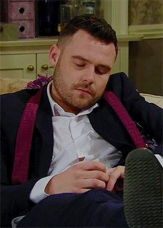 lil scruff playing with his ring Emmerdale Actors, Danny Miller, Self Destruction, You Look Like, David Beckham, Going Crazy, Grease, Soaps, Monkey
