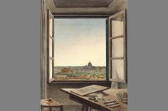Constant Moyaux (French, 1835-1911), View of Rome from theArtist's Room at the Villa Medici, 1863. Watercolor on paper, 11 5/8 x 9 in. Musée des Beaux-Arts, Valenciennes, Réunion des Musées Nationaux / Art Resource, NY.