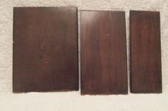 3 Pieces of Vintage Salvage Wood from Furniture by rarefinds4u