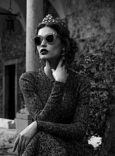 Bianca Balti for Dolce & Gabbana Eyewear Fall 2013