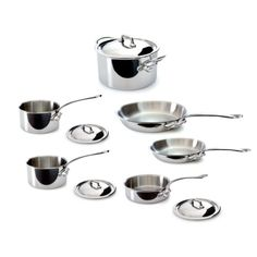 Mauviel Made In France MCook 5 Ply Stainless Steel 521010 10Piece Set with Cast Stainless Steel Handle *** Read more reviews of the product by visiting the link on the image.-It is an affiliate link to Amazon.