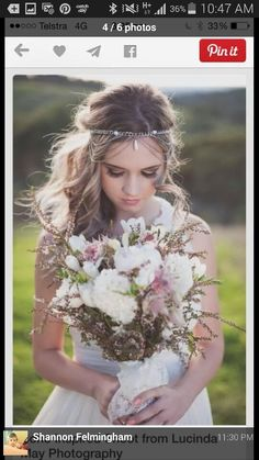 Absolutely love her bouquet and her hair and makeup