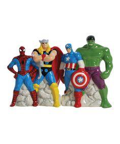 Look at this #zulilyfind! Marvel Superheroes Salt & Pepper Shakers #zulilyfinds