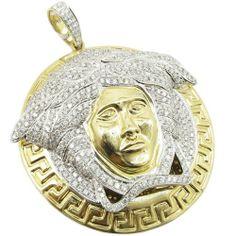 Mens 14k Yellow Gold 6.66ctw diamond Versace charm LP367Y gold-charms-pendants,http://www.amazon.com/dp/B00GLG0Y0S/ref=cm_sw_r_pi_dp_-iFdtb1X8FWMC33K