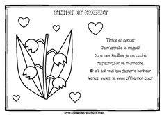 Illustration timide et coquet muguet