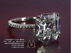 Asscher cut solitaire engagement ring by Leon Mege    https://www.artofplatinum.com/vault/Solitaires/View-all-products/index.php?page=shop.product_details=flypage.tpl_id=964_id=1=com_virtuemart=1