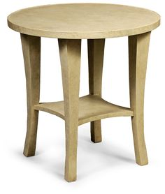 """Palm Beach Side Table   Dimensions 26""""H x 26""""Dia.   Custom Sizing Available   45 Unique Hand-Applied Finishes   Made in USA"""