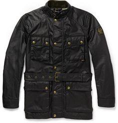 Belstaff RoadMaster Black Leather Jacket Belt  | Seen here --> StyleSocietyGuyBlog.com