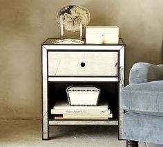 Marnie Mirrored Bedside Table on shopstyle.com