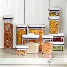 Shop Williams Sonoma for all the kitchen counter and kitchen storage items. Our collection of pantry organizers will help make your kitchen clean and tidy. Steel Storage Containers, Oxo Pop Containers, Williams Sonoma, Pots, Storage Sets, Kitchen Pantry, Kitchen Decor, Pantry Room, Organized Kitchen