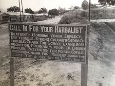 """""""Harbalism"""", probably of Caribbean origin, but also of a South African philosophy and nature."""