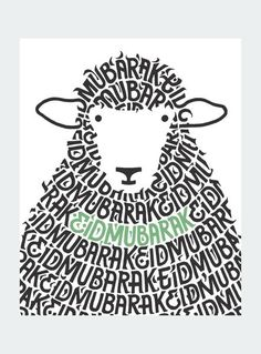 Sheep Mubarak Card: Keep loved ones close by sending an Eid Mubarak card this year. Specifically designed for Eid al-Adha by Modern Muslim Market. A brand new e-commerce store where the latest generation of Muslims go to find products that express the entirety of who they are.