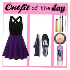 """My outfit today"" by nataliaruzzo1 ❤ liked on Polyvore featuring Doublju, Vans, AERIN, Lord & Berry, Bare Escentuals, H&M and Nivea"