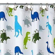 kassatex dino park shower curtain
