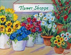 flower shop paintings - Google Search