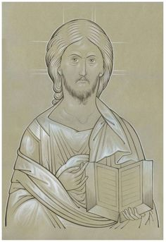 учебная прорись <-- which probably says Christ the Teacher (a sketch of an icon) Religious Images, Religious Icons, Religious Art, Byzantine Icons, Byzantine Art, Spirited Art, Photo D Art, Best Icons, Orthodox Christianity