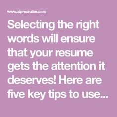 Words To Use On Resume 64 Action Verbs That Will Take Your Resume From Blah To Brilliant .