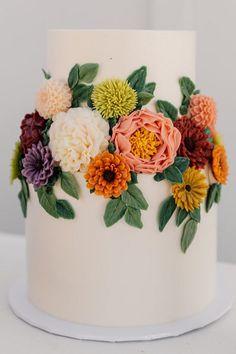 Pretty Cakes, Beautiful Cakes, Amazing Cakes, Coconut Buttercream, Buttercream Flowers, Sherbet Ice Cream, Floral Cake, Fancy Cakes, Cake Art