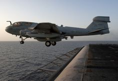 EA-6B Prowler  U.S. Navy photo by Mass Communication Specialist 2nd Class James R. Evans