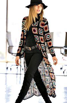 Fashion Tips Infographic .Fashion Tips Infographic Crochet Coat, Crochet Cardigan Pattern, Crochet Jacket, Crochet Clothes, Crochet Granny, Crochet Stitches, Look Fashion, Fashion Tips, Fashion Women