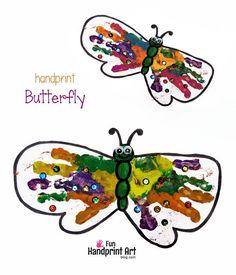 Butterfly Handprint Art - Spring Craft