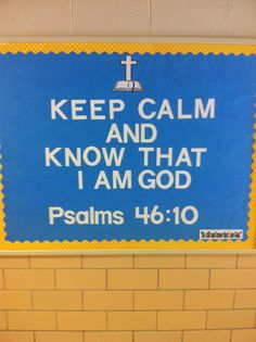 Bulletin board - This year's theme verse.