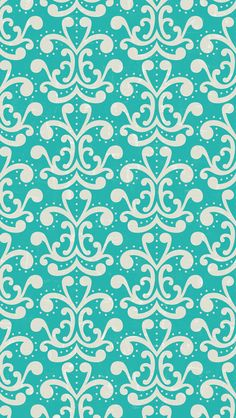 iphone 5 wallpaper - #aqua #damask #pattern