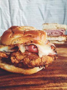 Fried Chicken Sandwiches That Will Make You Drool: Chicken Cordon Bleu Sandwich