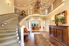 Natural Blues blog -  Entry Foyer and main staircase