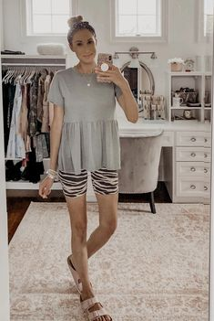 Monday Must-Haves: My Favorite Casual Tops for Summer - peplum tee and zebra print biker shorts Zebra Print, Casual Tops, Must Haves, Biker, Peplum, Fashion Group, My Favorite Things, Shorts, Fashion Beauty
