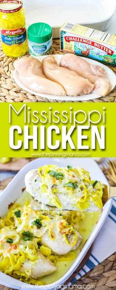 Mississippi Chicken Recipe- EASY + DELICIOUS Dinner Idea! Easy Chicken Recipes, Easy Healthy Recipes, Low Carb Recipes, Easy Meals, Cooking Recipes, Healthy Meals, Healthy Eating, Recipe Chicken, Yummy Recipes