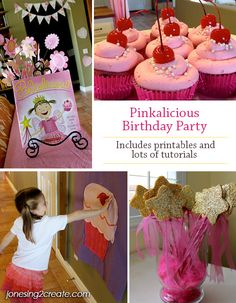 A perfect Pinkalicious Birthday Party for my little girl who loves pink! Includes printables and tutorials.