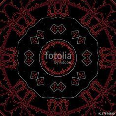Hintergrund Mandala Rot, Orange, Weiß, Schwarz,  geeignet für Meditation, Hypnose, Esoterik, Mystik, Kaleidoskop, Ornament, Muster, Kachel, Homepage, Design, Dekoration, Kunst, Hintergrundbild, Grafik