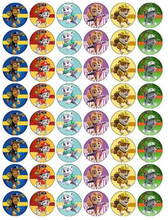 Paw Patrol V4 Papel De Oblea Comestible Toppers Cupcake Pastel Mollete Paw Patrol Cake, Paw Patrol Party, Paw Patrol Birthday, Boy Birthday Parties, 2nd Birthday, Paw Patrol Stickers, Kokos Desserts, Cumple Paw Patrol, Puppy Party