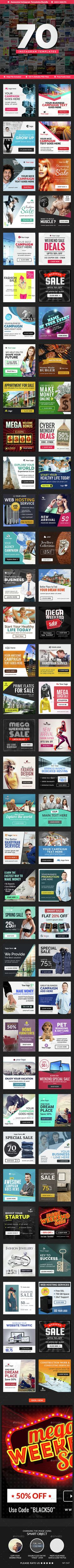 70 Banner for Instagram Template PSD. Download here: http://graphicriver.net/item/instagram-banners-70-banners/15278059?ref=ksioks
