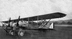 Caudron G 4 de l'escadrille C 105 sur le terrain de Julvécourt en juillet-août 1916 -