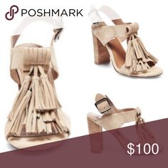FINAL PRICE‼️HP 9/2🎉Steve Madden tassel heels 😍 Such an adorable sandal with a stacked heel! Cute and comfortable for the summer! Sand suede with cascading tassels! 4 inch heel. Brand new in box! Price is firm! No trades! Steve Madden Shoes Sandals