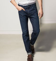 CASUAL FIT JEANS WITH PRINTED LINING