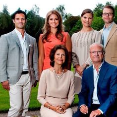 The Swedish royal family in spring Far right is the new prince daniel who married Victoria