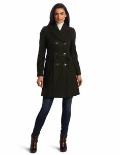 Hot Product Today  Kenneth Cole Women's Double Breasted Coat, Alpine, 10