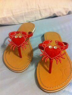 Coach crab flip flops