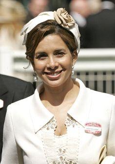 Princess Haya Bint Al Hussein of Jordan, Sheikha of Dubai #famous #fascinator