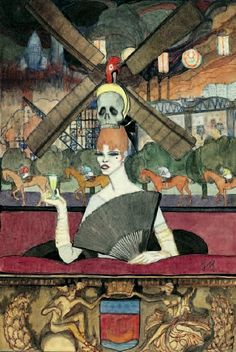 Woman with Glass of Absinthe (c. 1916) by Jeanne Mammen