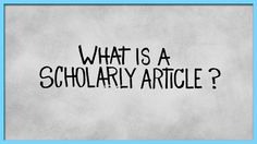 Step 5(b): Evaluate your sources. What type of sources do you need for scholarly research? How can you tell the articles you have are scholarly? Take a look at this video from the Kimball Library that explains scholarly articles.