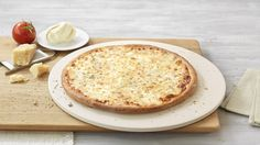 Pizza «4 Formaggi» – Tomato sauce, Mozzarella, Feta, Gorgonzola, Grated cheese, Herbes de Provence – Sizes: S - 25cm, M - 30cm, L - 35cm Mozzarella, Feta, Camembert Cheese, Pizza, Herbes De Provence